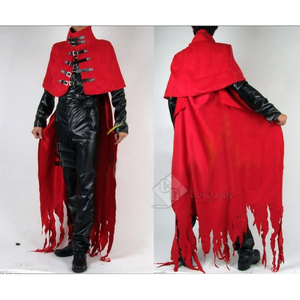 Final Fantasy 7 VII Vincent Valentine Uniform Party Cosplay Costume