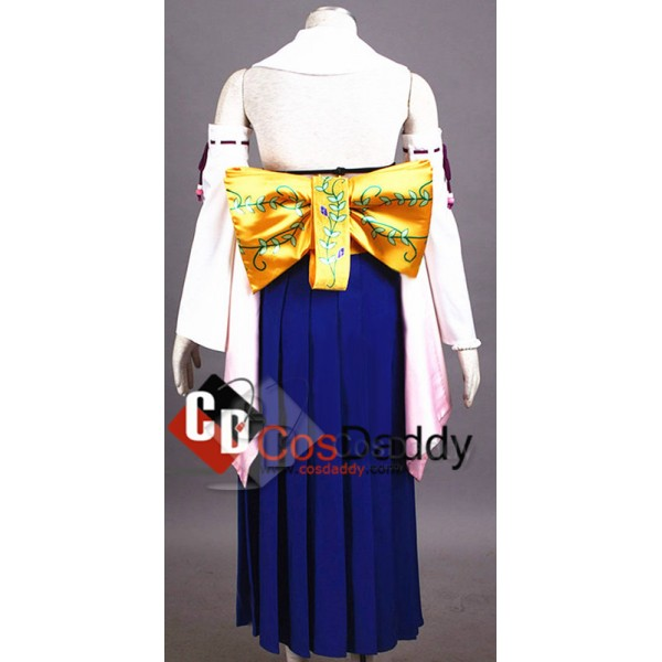 Final Fantasy ⅩYuna Dress Kimono Unifrom Full Set Cosplay Costume