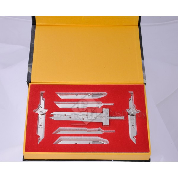 Final Fantasy Cloud Strife Mini Sword Collection Set Color Silver Prop