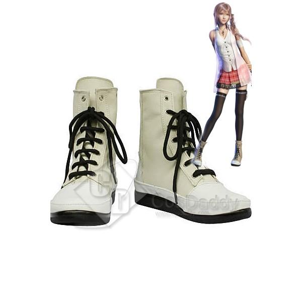 Final Fantasy Serah Cosplay Boots Shoes