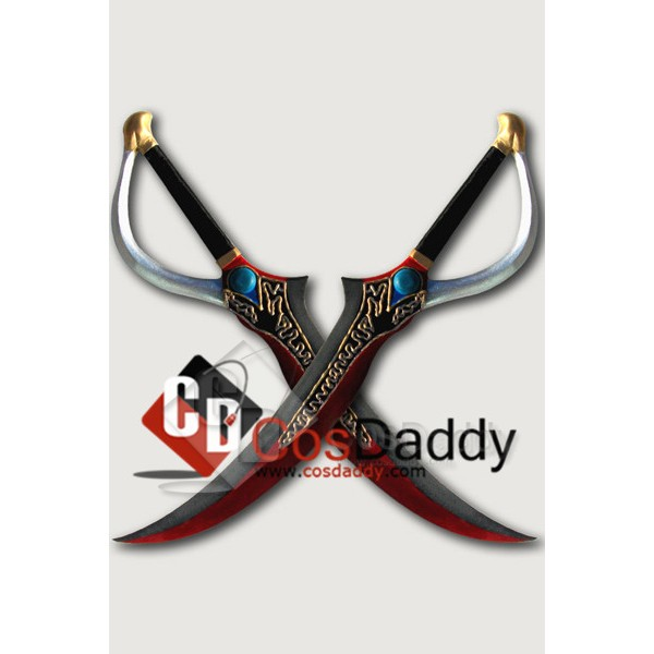 Final Fantasy Type-0 Rem Double Sabres Cosplay Props