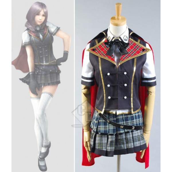 Final Fantasy Type-0 Rosefinch Magic College Summer Uniform Cosplay Costume