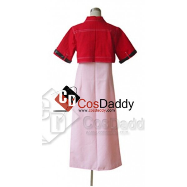 Final Fantasy VII 7 Aerith Dress Cosplay Costume