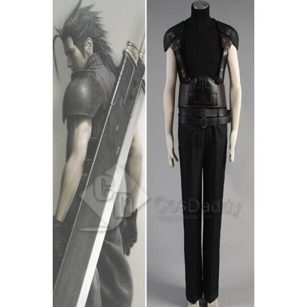 Final Fantasy VII FF7 Zack Cosplay Costume