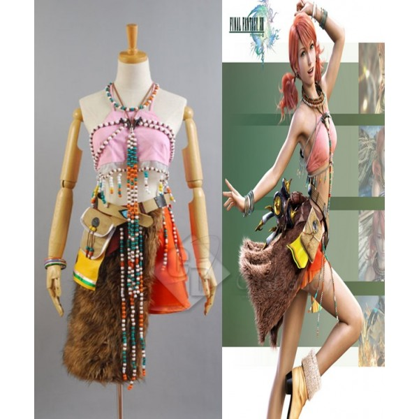 Final Fantasy XIII FF13 Oerba Dia Vanille Cosplay Costume
