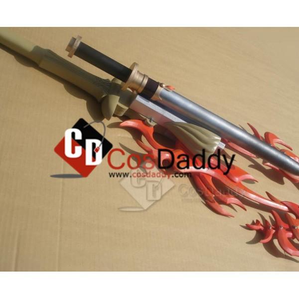 Final Fantasy XIII Noel Kreiss Two Blades Red Flames Sword Cosplay Prop