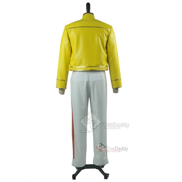 Queen Freddie Mercury Yellow Jacket Pants Cosplay Costume