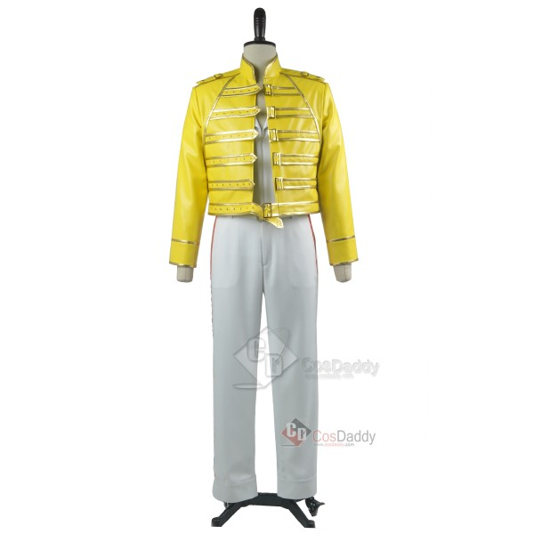 Queen Freddie Mercury Yellow Jacket Pants Cosplay ...