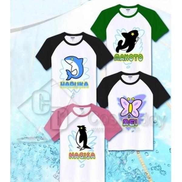Free! Eternal Summer Iwatobi Swim Club Unisex Cotton T-Shirt Tee Costume