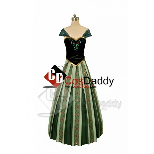 Frozen Anna Coronation Dress Cosplay Costume