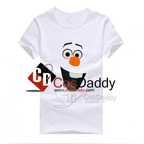 Frozen Olaf Snowman T-shirt Costume White