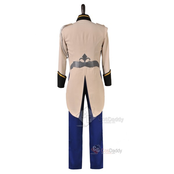 Frozen Prince Hans Tail Coat Outfit Cosplay Costume