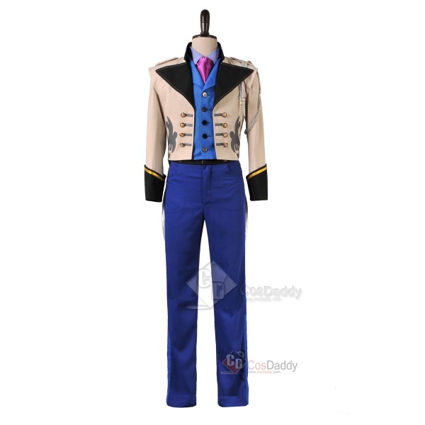 Frozen Prince Hans Tail Coat Outfit Cosplay Costum...