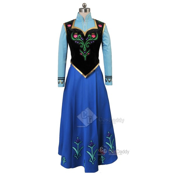Frozen Princess Anna Dress Cosplay Costume