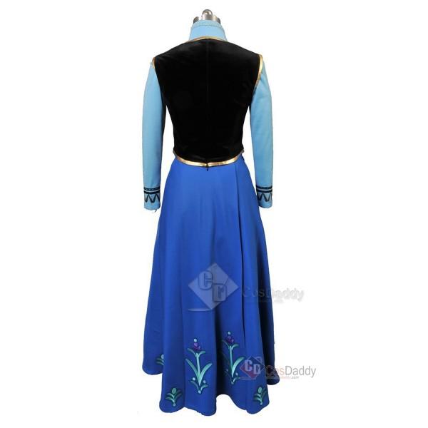Frozen Princess Anna Dress Cosplay Costume