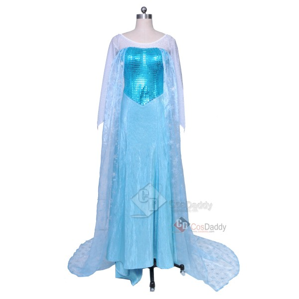 Frozen Snow Queen Elsa Fancy Dress Cosplay Costume