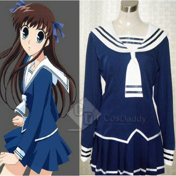 Fruits Basket Tohru Honda Cosplay Navy School Uniform Cosplay Costume
