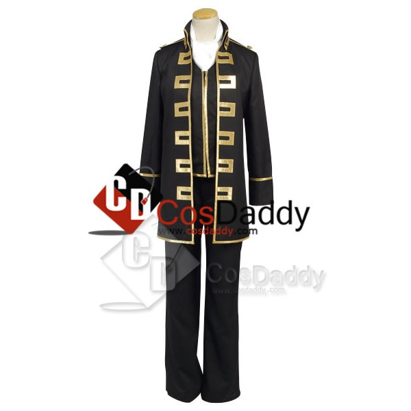 Gintama Shinsengumi Police Gold Soul Uniform Cospl...