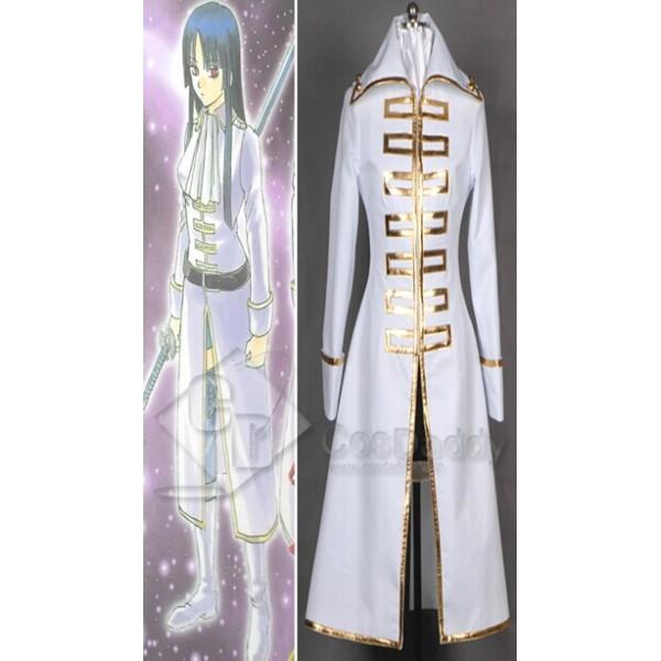 Gintama Shinsengumi Team White Female Jacket Cosplay Costume