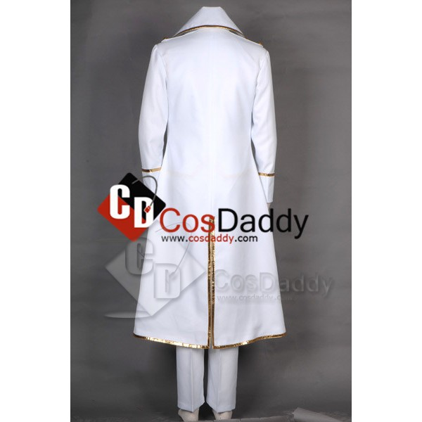 Gintama Shinsengumi Team White Male Outfit Cosplay Costume