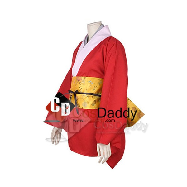 Gintama Silver Soul Kagura Kimono Cosplay Costume