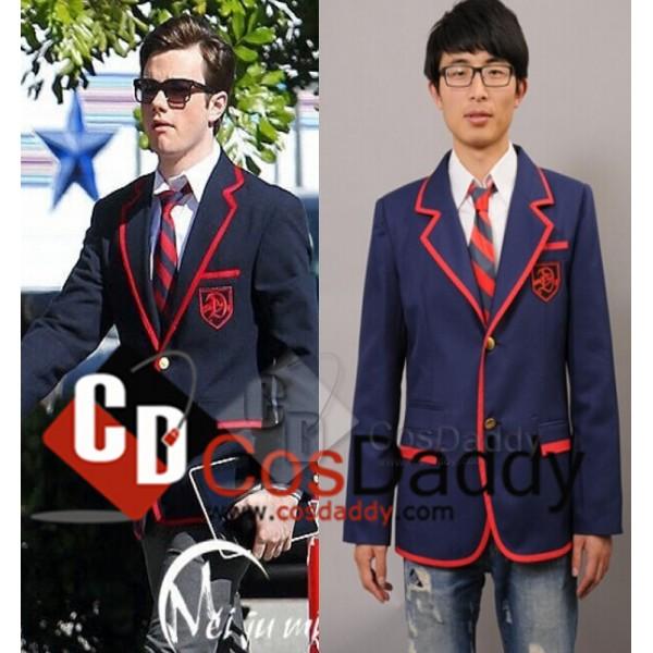 Glee Blaine AndersonNavy Blue Suit Tie Cosplay Cos...
