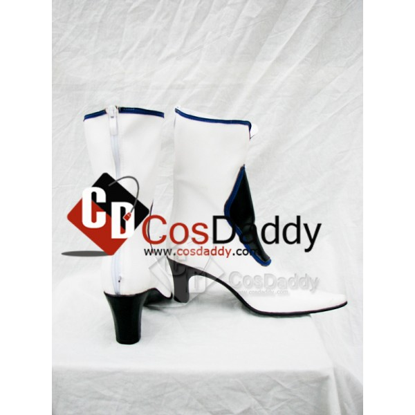 Guilty Gear Dizzy White Cosplay Boots Custom Made