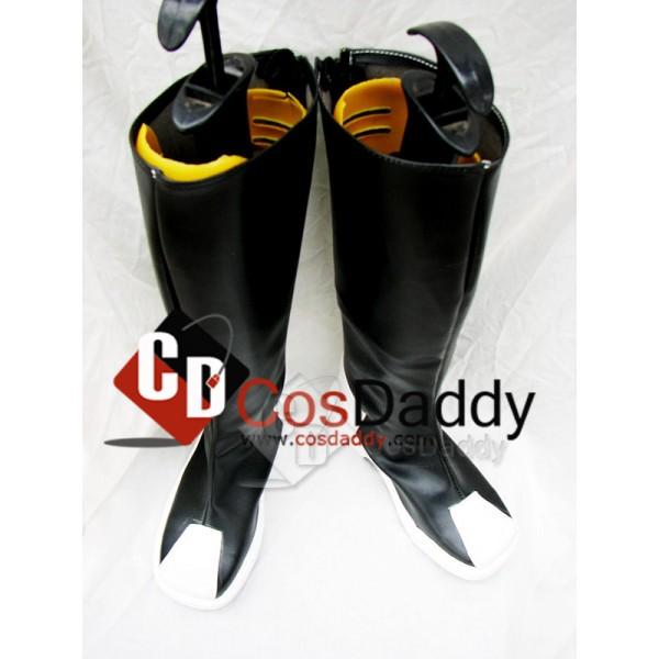 Gundam Seed Zaft Black Cosplay Boots Custom Made