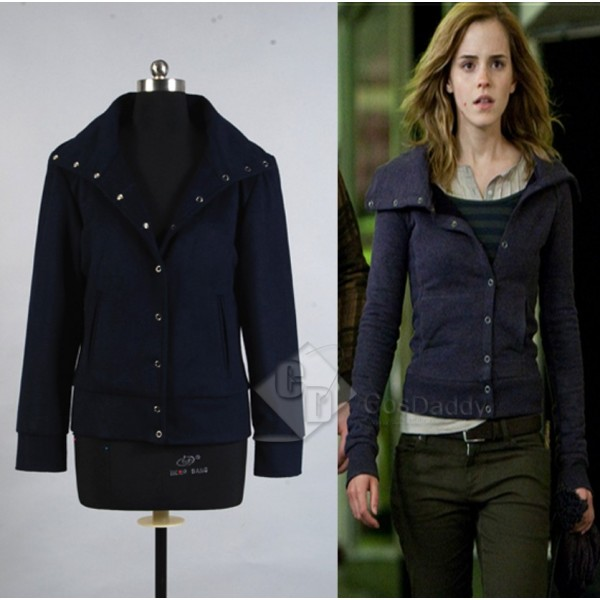 Harry Potter and the Deathly Hallows Hermione Granger Navy Blue Jacket Cosplay Costume