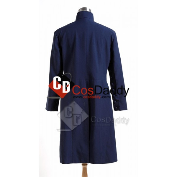 Harry Potter Deathly Hallows Severus Snape Coat Cosplay Costume Blue Version