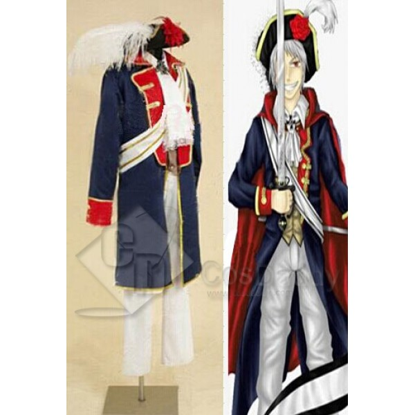 Hetalia:APH Axis Powers Prussia Cosplay Costume