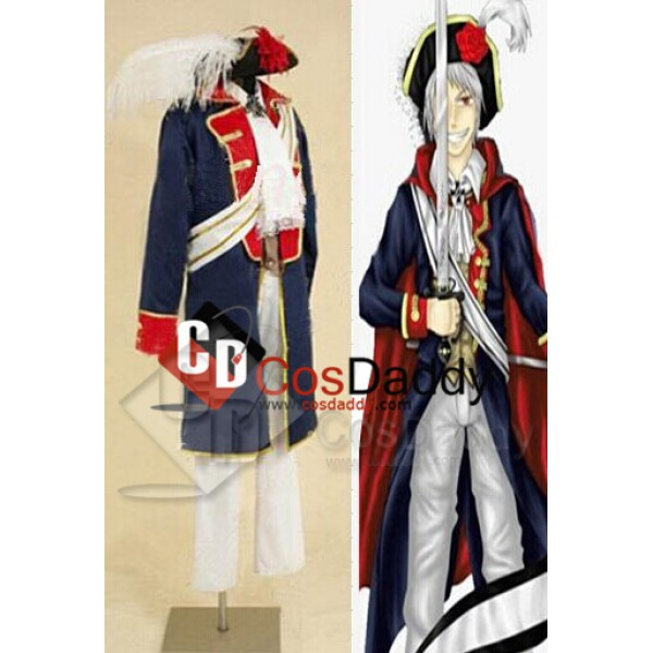 Hetalia:APH Axis Powers Prussia Cosplay Costume