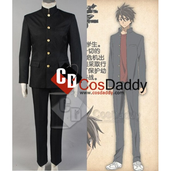High School of the Dead HOTD Takashi Komuro Cosplay Costume