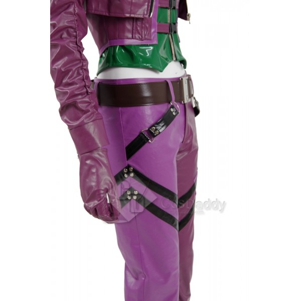 CosDaddy Injustice 2 Harley Quinn Sexy Purple+Green Battle Suit  Cosplay Costume