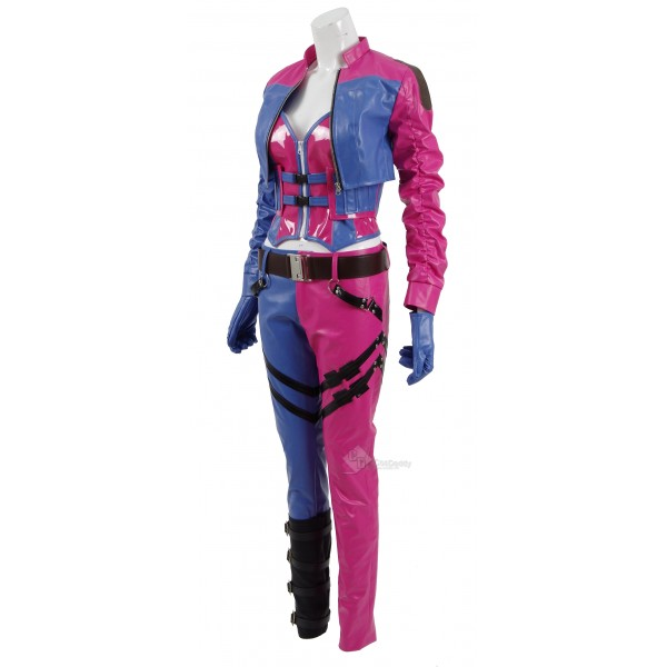 CosDaddy Injustice 2 Harley Quinn Sexy Pink+Bule Battle Suit for Halloween&Christmas