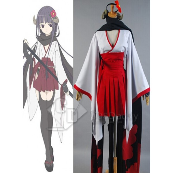 Inu x Boku SS Shirakiin Ririchiyo Cosplay Costume