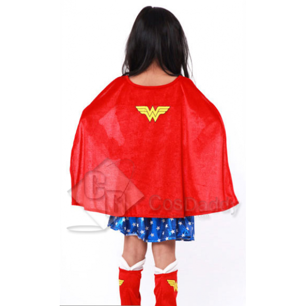CosDaddy Wonder Woman Diana Prince Battle Suit Cosplay Costume For Childern