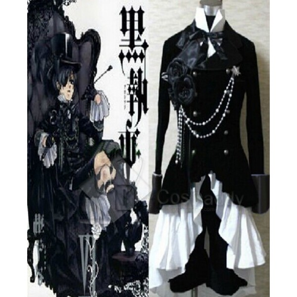 Japanese Anime Outfit Black Butler Ciel Phantomhive Cosplay Costume