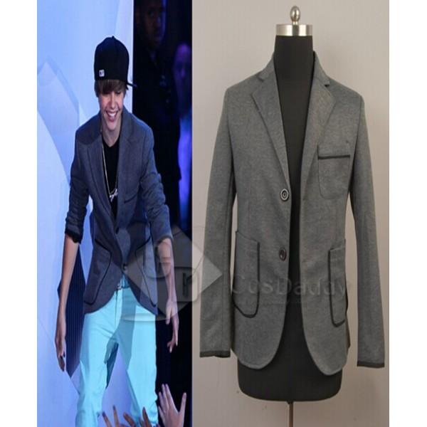 Justin Bieber Gray Leisure Suit Jacket Coat Costume