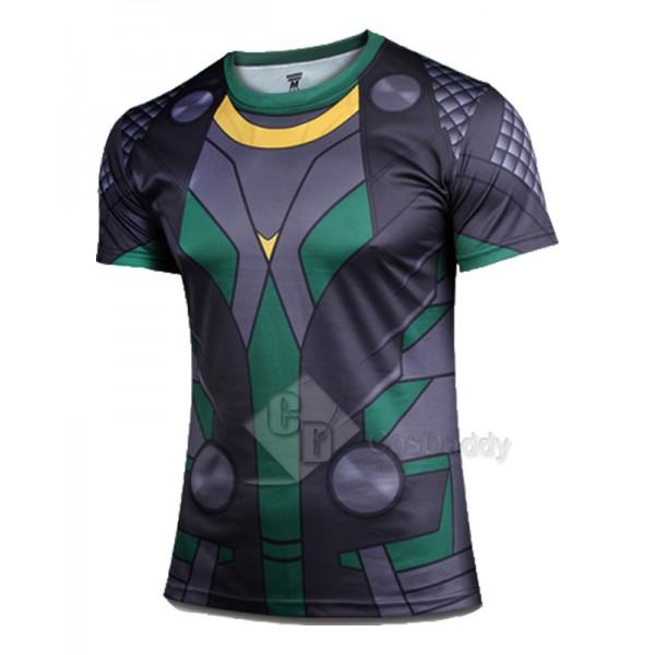 Marvel's The Avengers Loki Short Sleeves T-Shirt