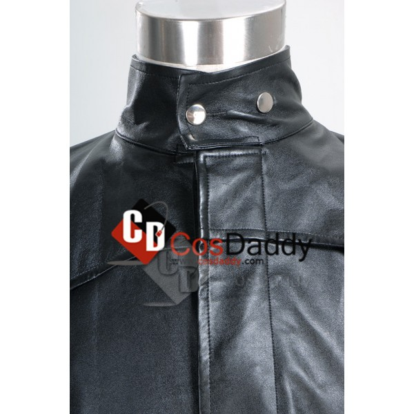 The Matrix Neo Long Black Leather Coat Cosplay Costume