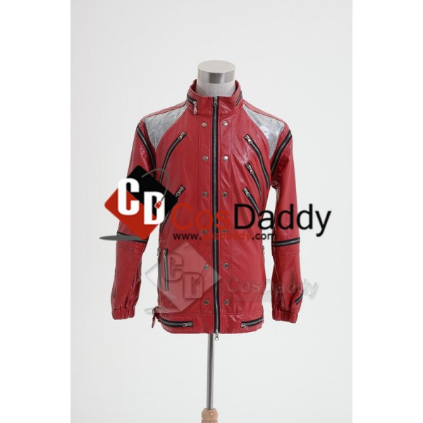 Michael Jackson Beat It Thriller Red Zipper Jacket...