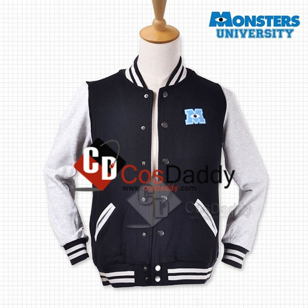 Monsters University Varsity Jacket Black Adult Cos...