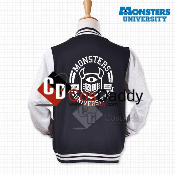 Monsters University Varsity Jacket Black Adult Cosplay Costume