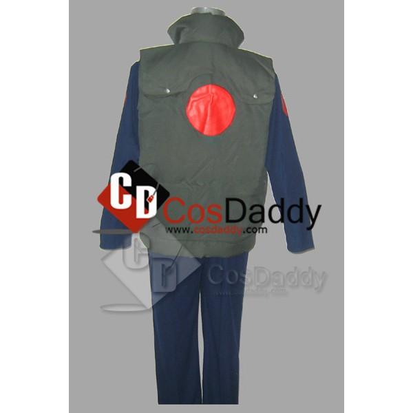 Naruto Kakashi Hatake Dark Blue Cosplay Costume