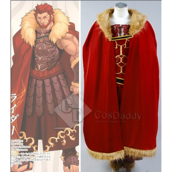 New Fate/Zero Servant Rider Iskandar Cosplay Costume