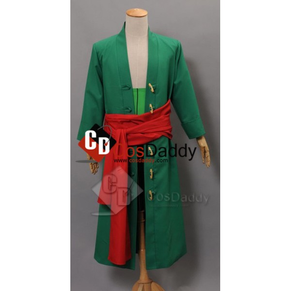 One Piece New World Zoro Anime Manga Cosplay Costu...