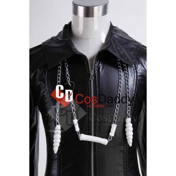 Organization XIII Kingdom Hearts II Cosplay Pleather Coat Cosplay Costume New Version