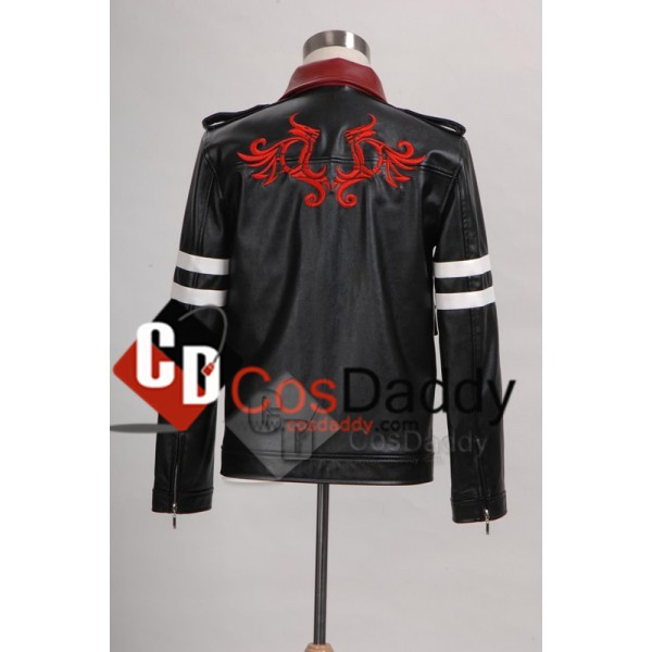 Prototype PS3 Game Alex Mercer Dragon Embroider Leather Jacket Cosplay Costume