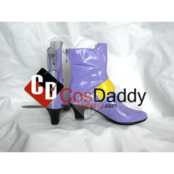 Puella Magi Madoka Fate Testarossa Harlaown Cosplay Boots Shoes